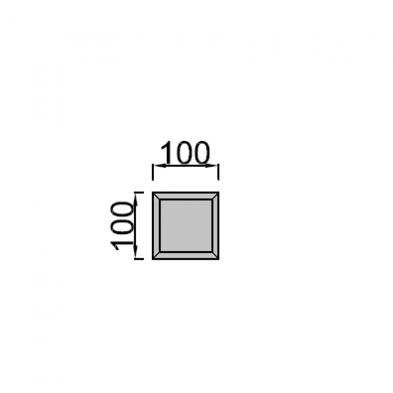 10x10cm kvadratas