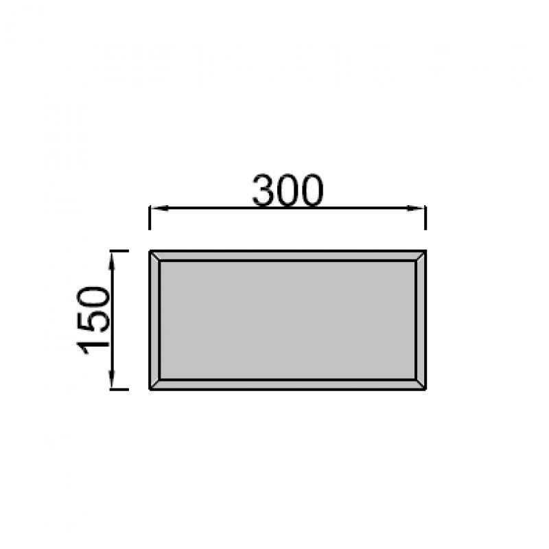 15x30cm stačiakampis