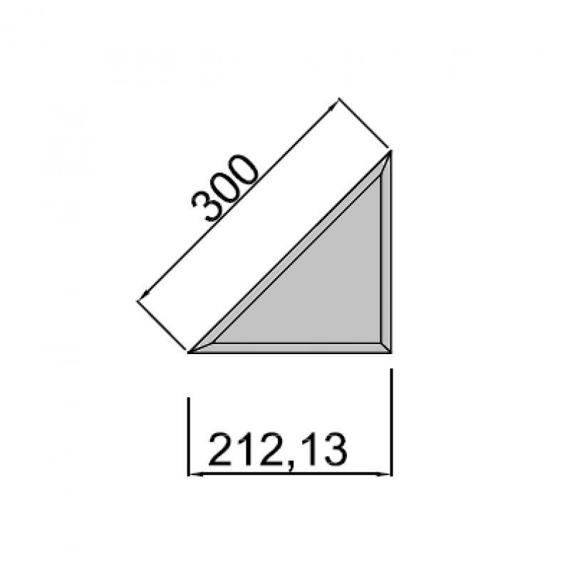 30cm trikampis