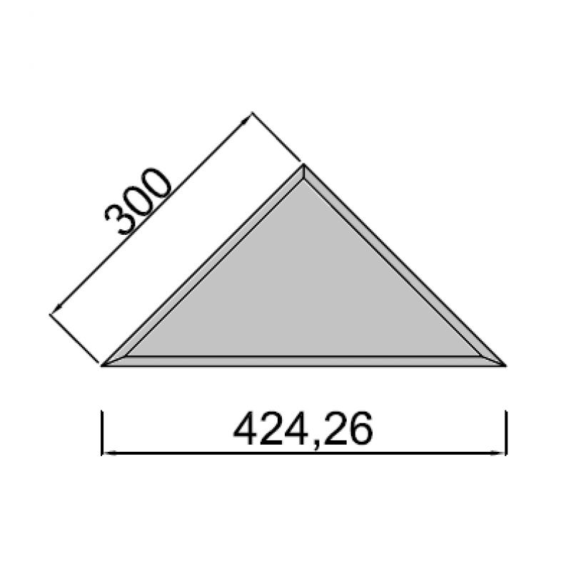 30x30cm trikampis