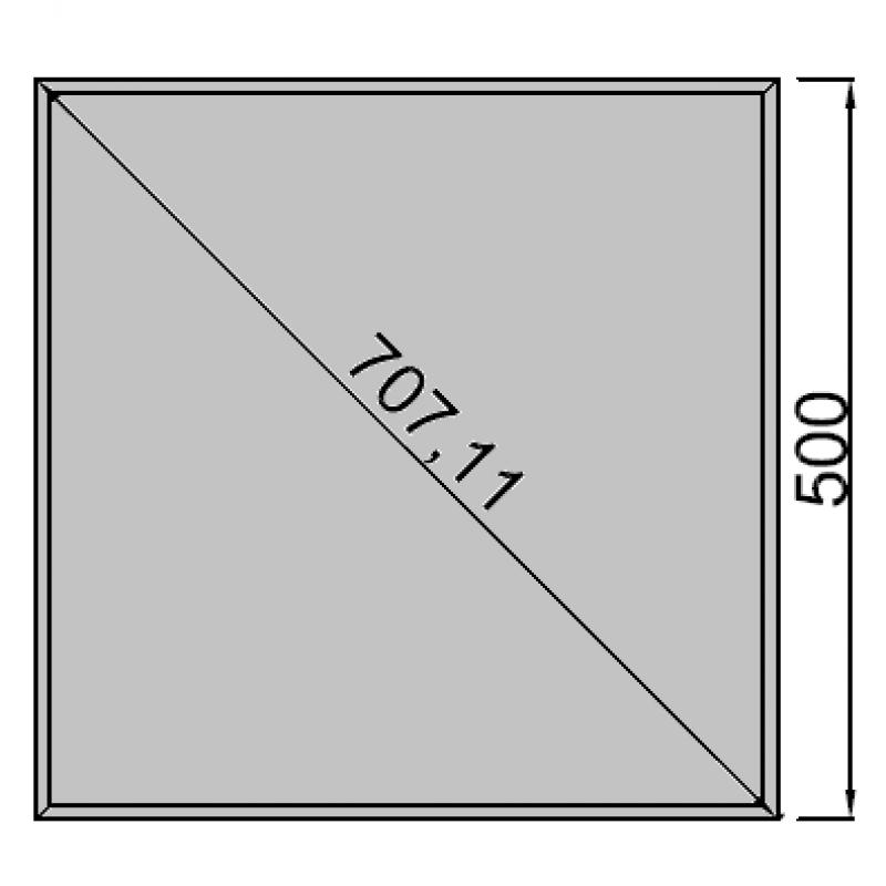 50x50cm kvadratas