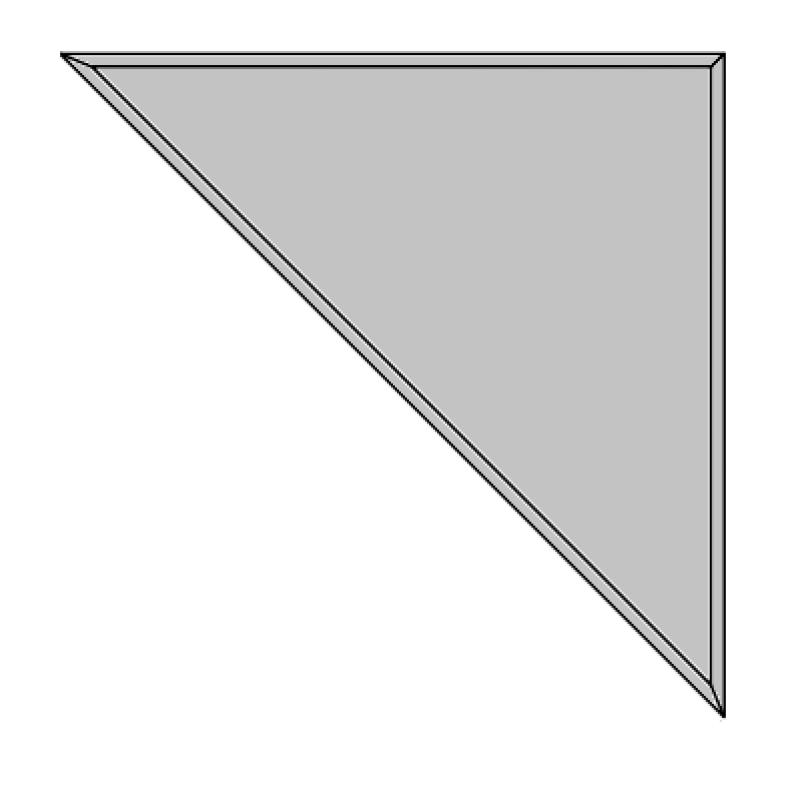 50x50cm trikampis