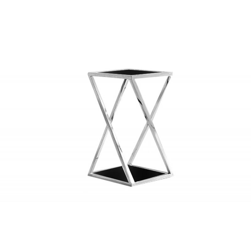 JJ1003 sidabrinis su juodu stiklu