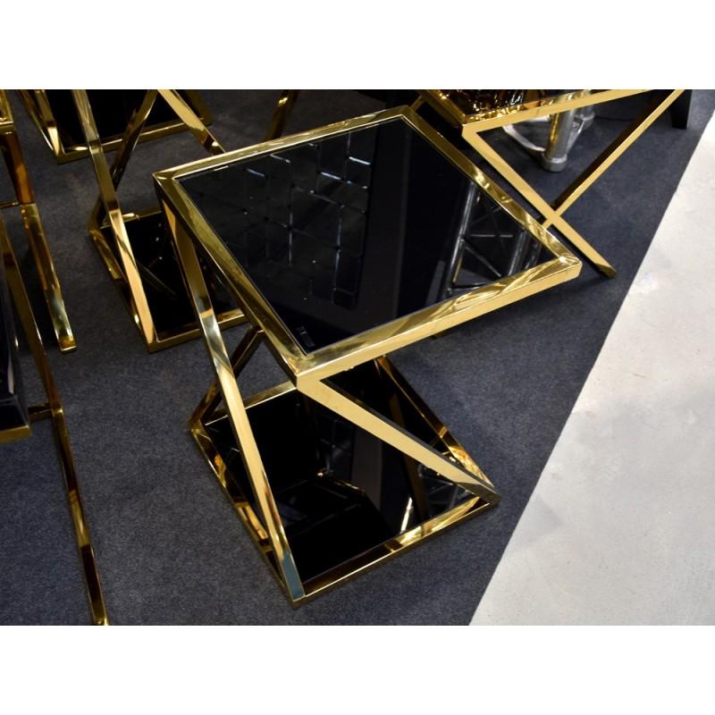 JJ1003 Auksinis su juodu stiklu