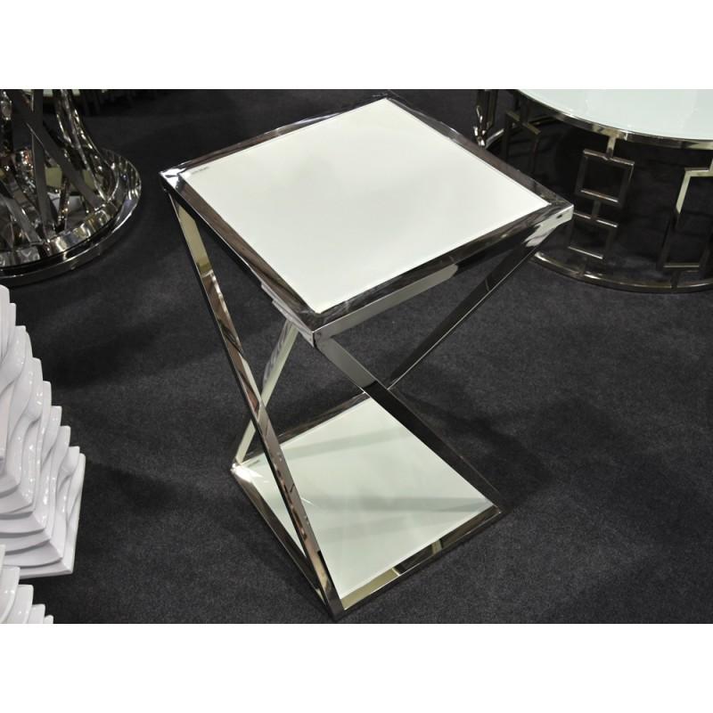 JJ1003 sidabrinis su baltu stiklu